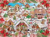 ^ Gingerbread Village ~ Lori Schory