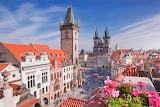 Houses, city of Prague, Czech Republic