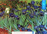 Impressionistic painting 'Irises' by impressionist painter - art