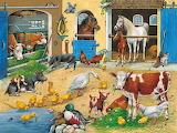 Down on The Farm Folk Art