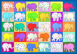 Cute Elephants, Multi Colour