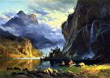 Indians Spear Fishing-Albert Bierstadt