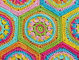 Bright and colorful granny squares