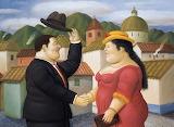 """Fernando Botero """"Uomo e donna"""" 2001"""