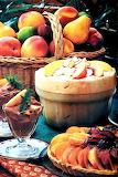 Dessert fruit peach souflee