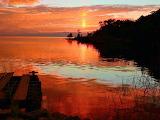 Peaceful Sunset Over Lake Akers Louisiana USA