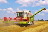 #Combine Harvester Working the Field