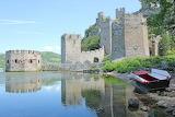 Serbia, old fortress, castle, lake, boat, nature, landscape