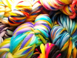 Colorful yarn, up close & personal