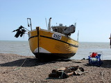 Fishing boat on Hastings beach
