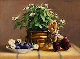 Oleo de frutas y flores
