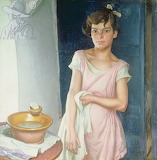 Dame Laura Knight, Susie and the Washbasin, 1929