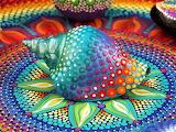 painted seashell