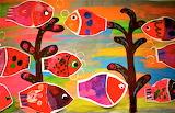 Folk Art Fish by Karla Gerard