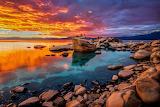 Wonderful sunset over Lake Tahoe