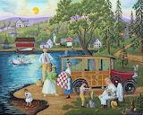 Lakeside picnic-Joseph Holodook
