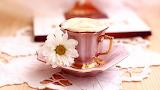 Café en taza de porcelana