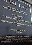West Hall plaque