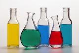 ^ Still life ~ colored bottles
