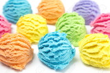 Scoops of Rainbow Ice Cream