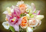#Rose, Calla Lily and Orchid Bouquet by Palms