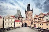 A bridge tower Charles Bridge Prague Czech Republic