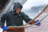 fisherman in the rain