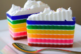 Rainbow soap in the form of a cake