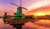Sunset of Netherlands