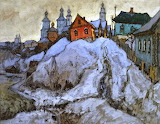 Evening in a Russian Village by Konstantin Gorbatov 1931