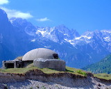 Bunker in Albanian Alps