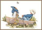 paddling along