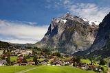 Swiss Village and Mountains