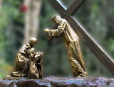 Jesus-Christ-station of the cross-religion-woman-child