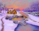 Winter Cottage by Sena Wilson...