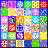 Colour Squares & Circles Patchwork