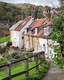 ^ Old Fishermen Cottages in Sandsend, North Yorkshire, England