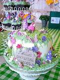 Pretty cake @  Katie's Cupcakes