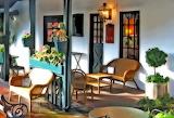 abstract veranda