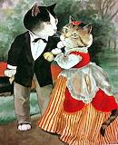 Cute Cat Couple
