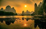 Scenery of Lijiang River. China