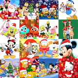 Christmas Cartoon Collage