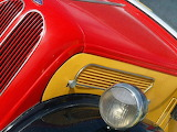 Colours-colorful-old-truck-detail-front-red-yellow