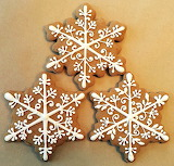 Rotate the snowflake cookies @ Snickerdoodledoo