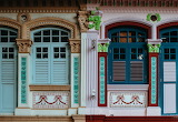 Colorful shutters, Singapore