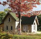 Green stone house