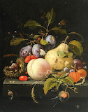 Fruit & Insects by Abraham Mignon