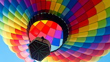 Rainbow Hot Air Ballloon