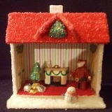 Inside Small Christmas Cottage