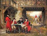 Huntsmen Resting at an Inn~ Frank Moss Bennett